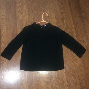 Cute Collared Black Blouse